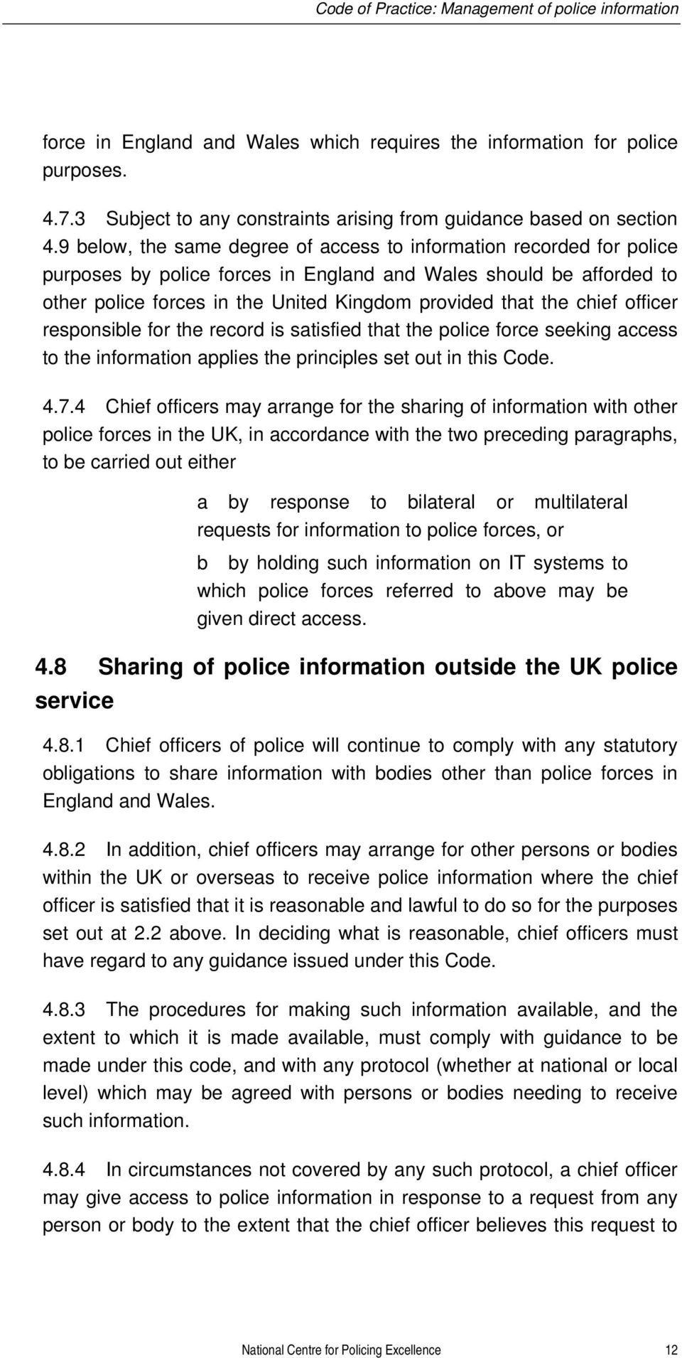 CODE OF PRACTICE ON THE MANAGEMENT OF POLICE INFORMATION - PDF