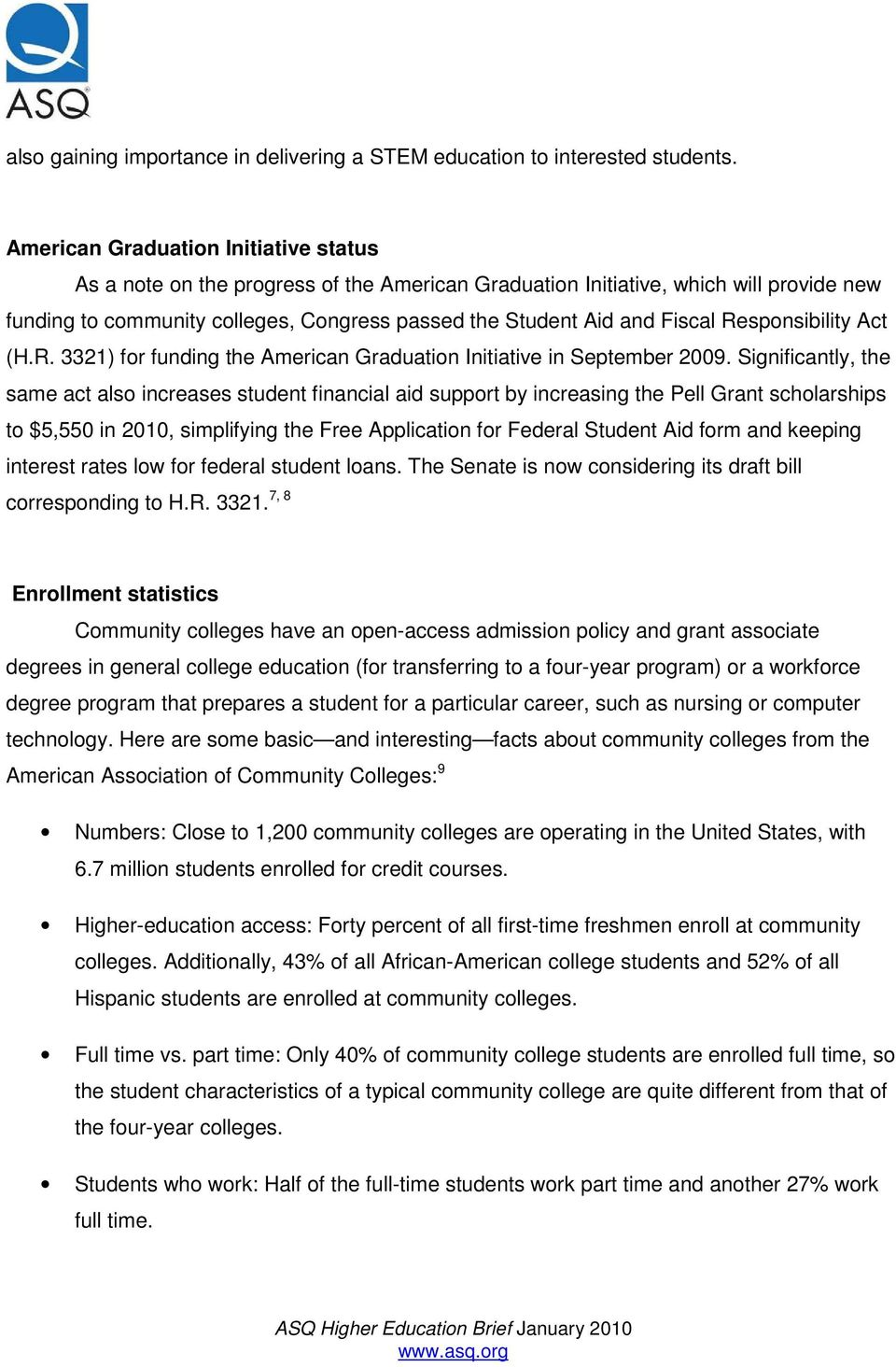 Community Colleges: Student Engagement and Workforce