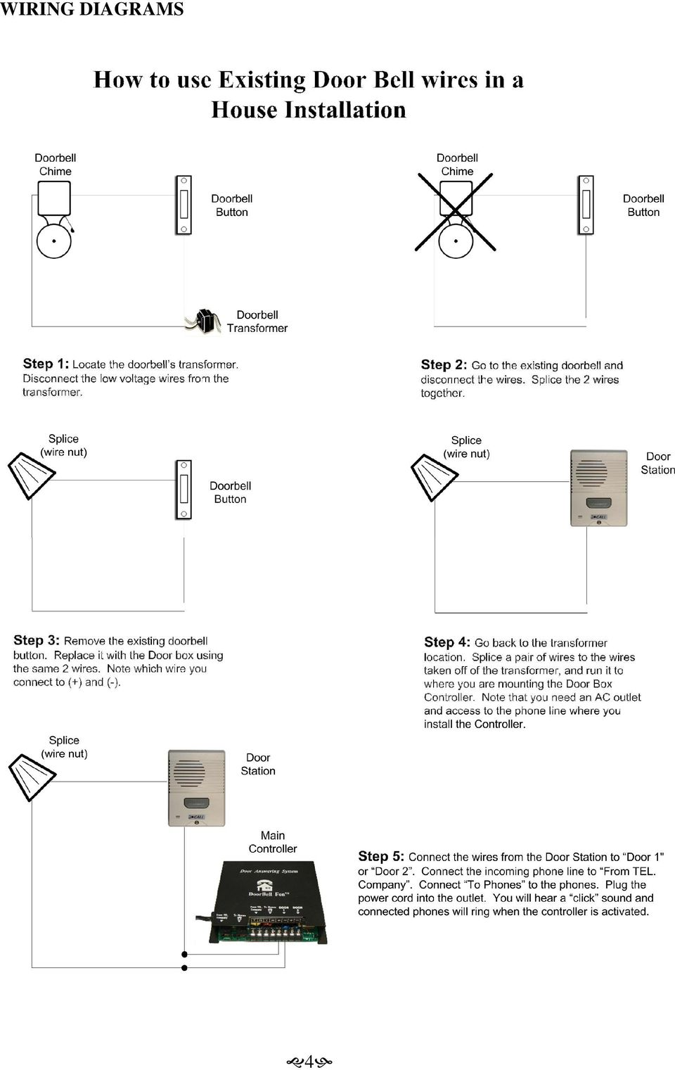 Doorbell Fon User And Installation Manual Pdf Installing A Wiring Schematic 4 Diagrams