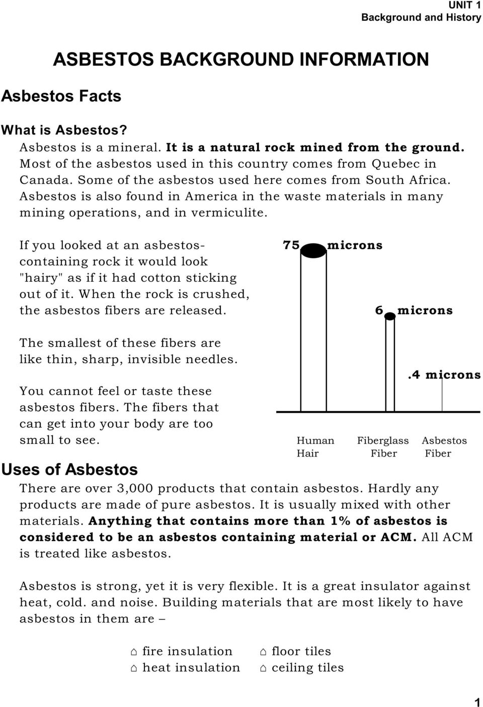 Asbestos is also found in America in the waste materials in many mining operations, and in vermiculite.