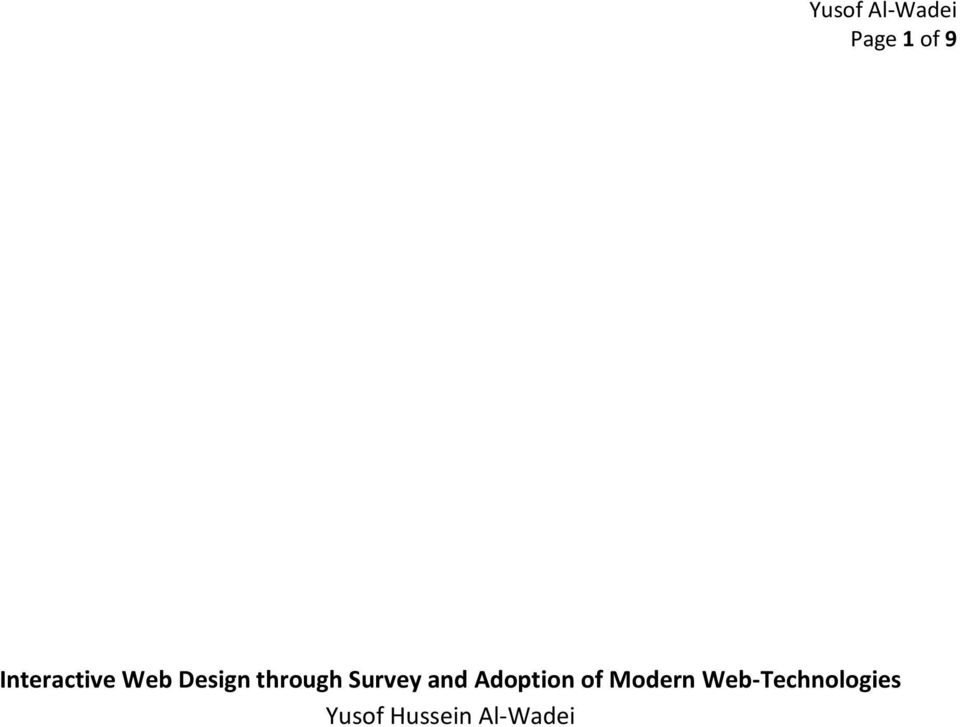 Adoption of Modern