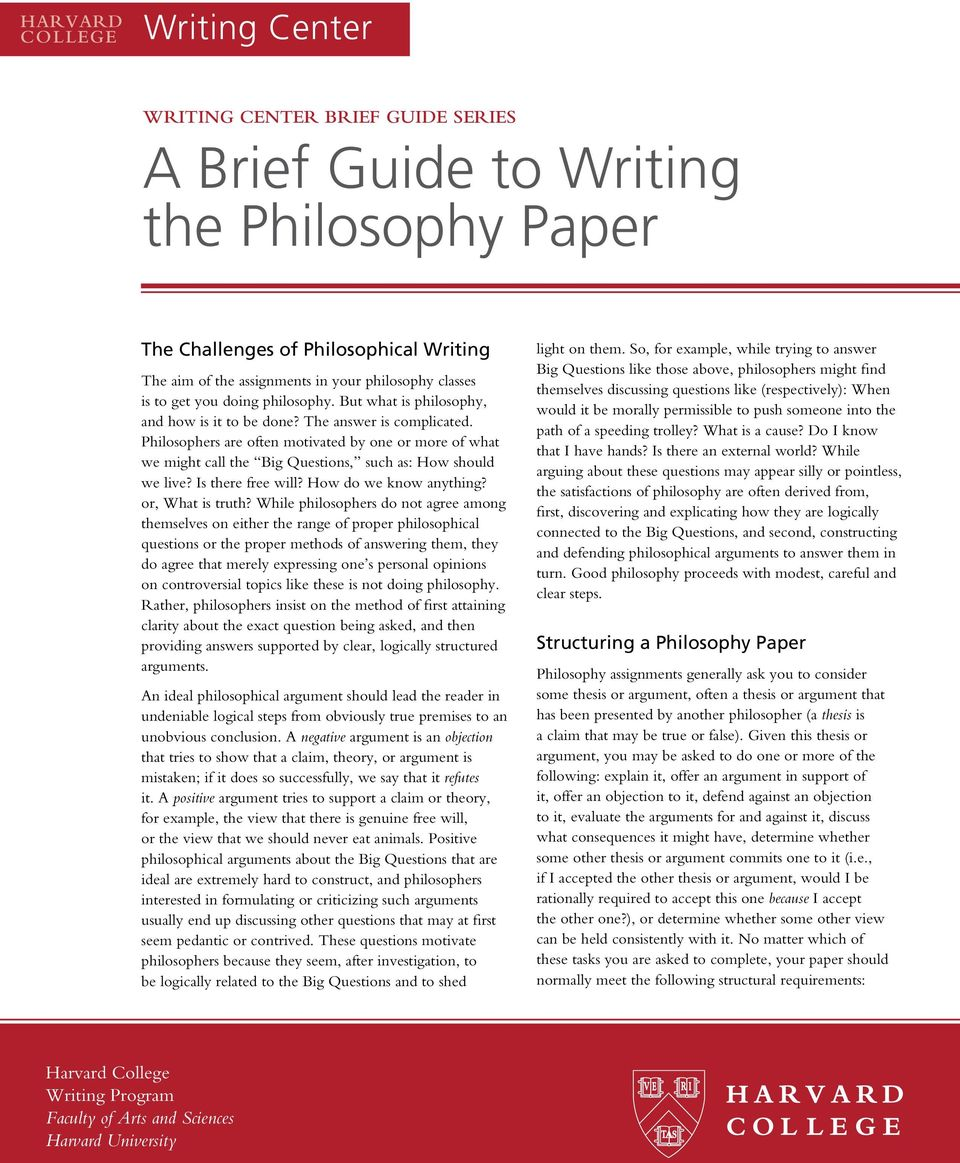 philosophy essay questions