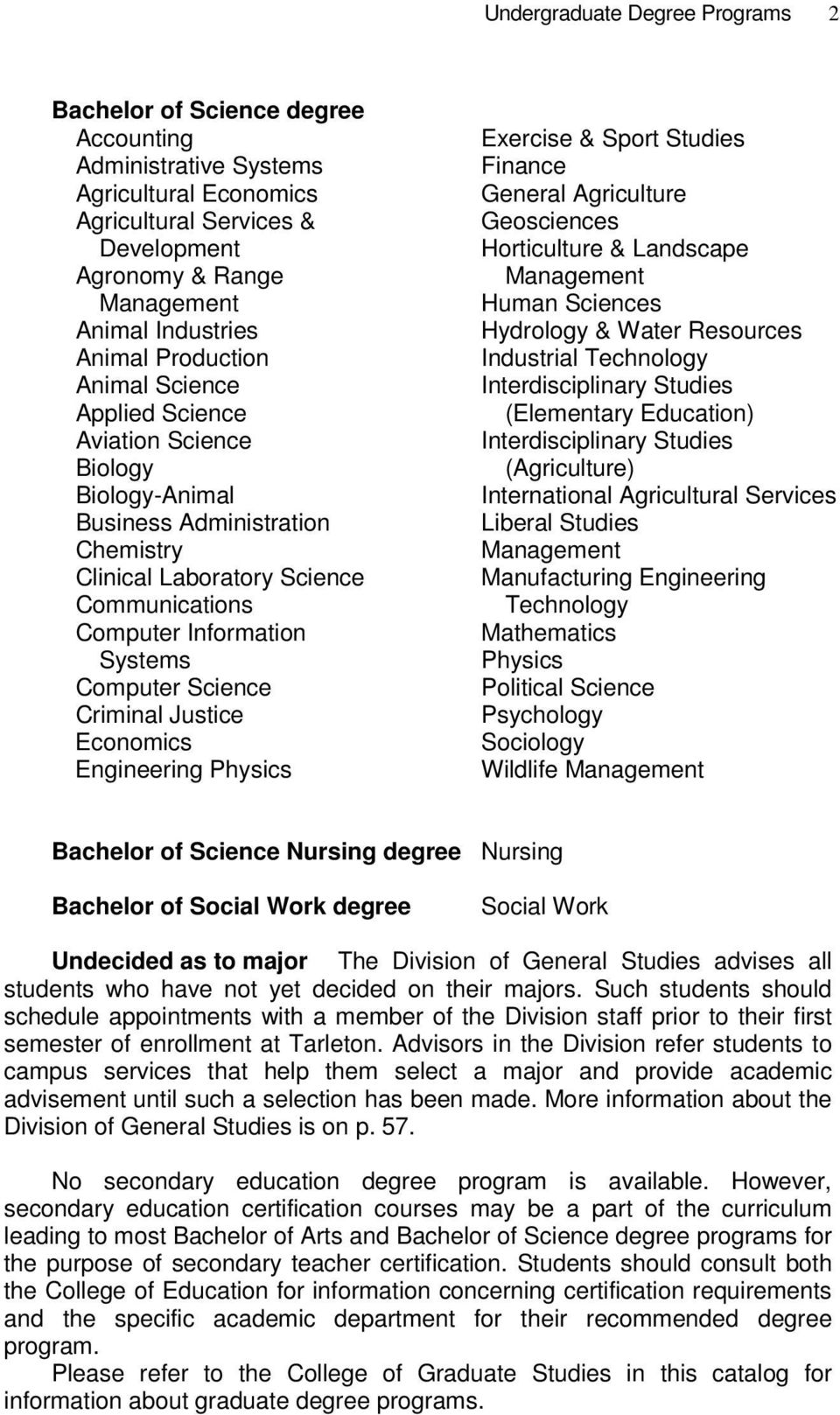 Computer Science Criminal Justice Economics Engineering Physics Exercise & Sport Studies Finance General Agriculture Geosciences Horticulture & Landscape Management Human Sciences Hydrology & Water