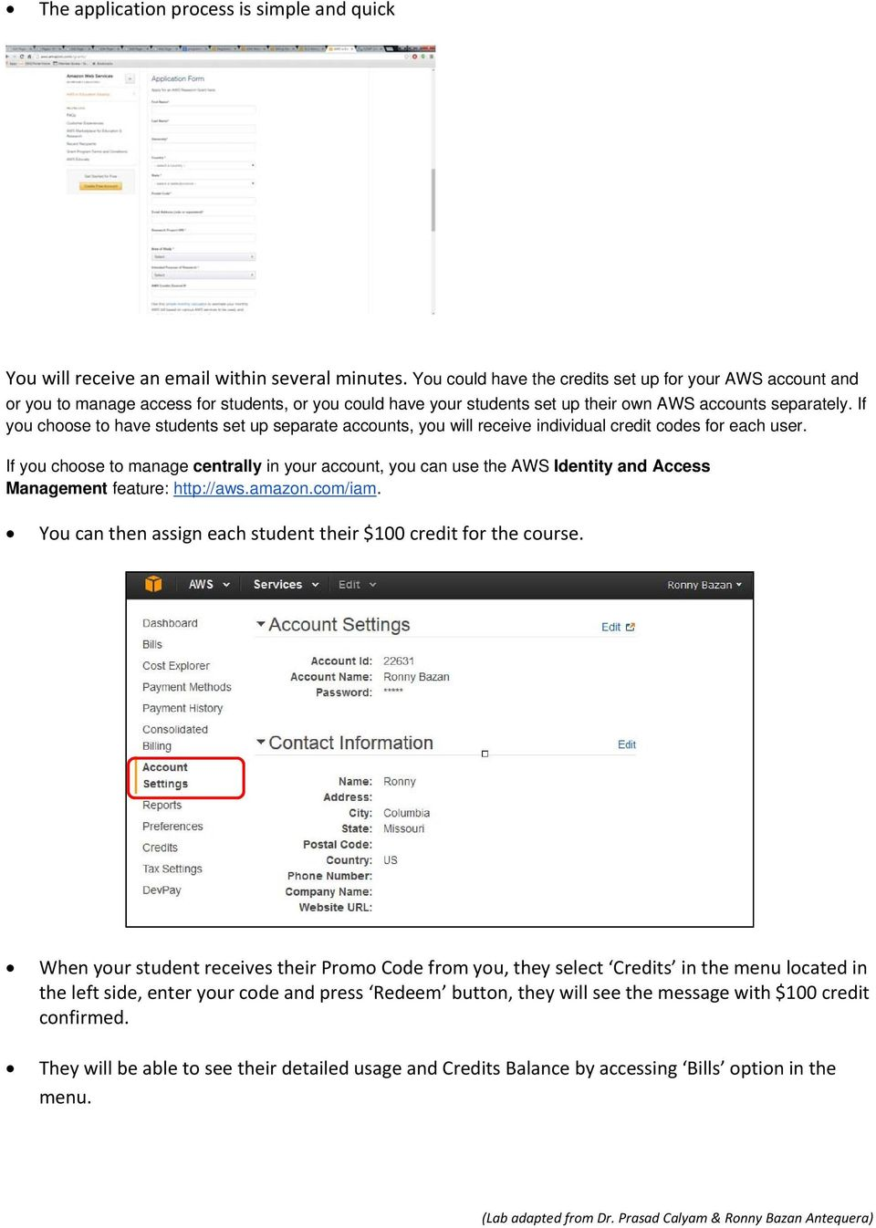 AWS Account Setup and Services Overview - PDF