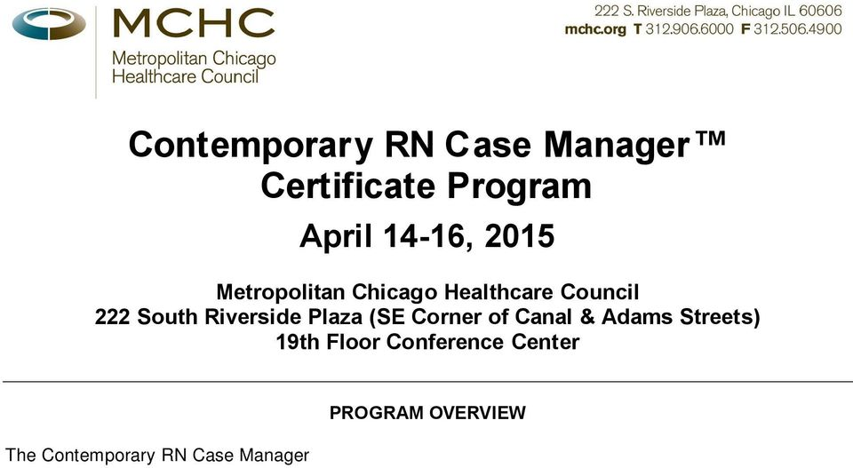 contemporary rn case manager certificate program -