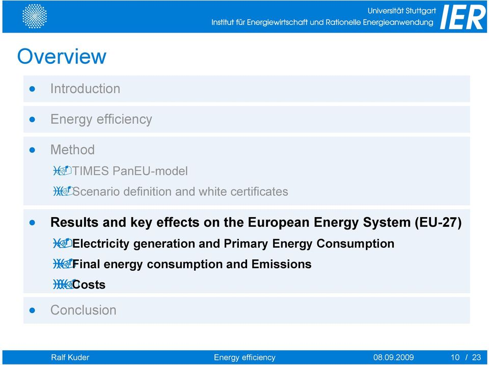 System (EU-27) Electricity generation and Primary Energy Consumption Final energy