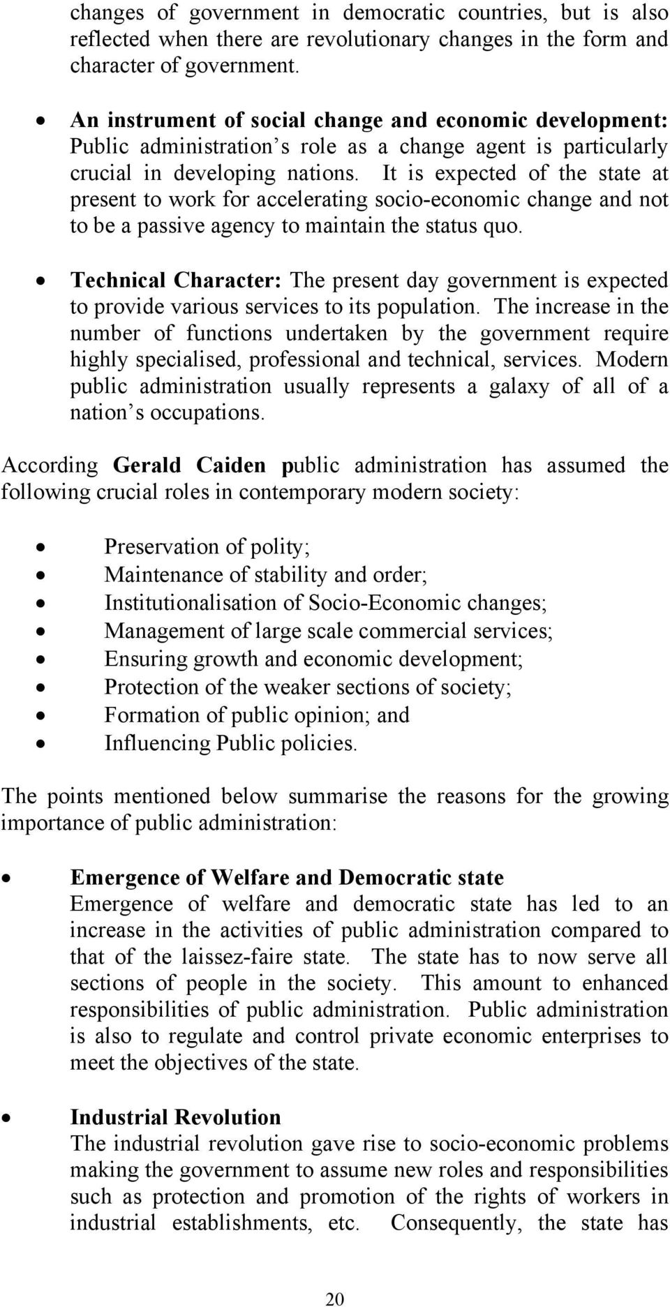 importance of public administration in modern society