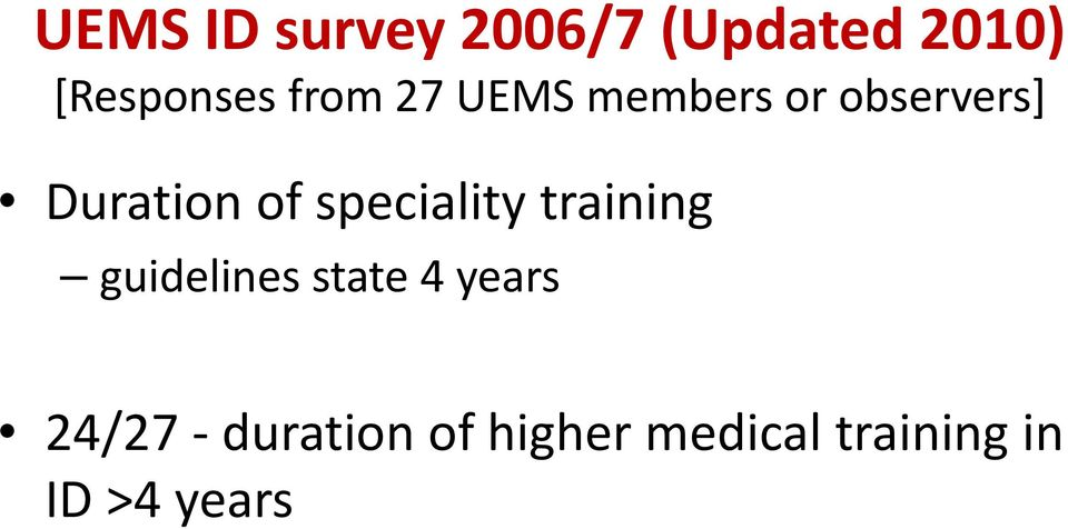 speciality training guidelines state 4 years