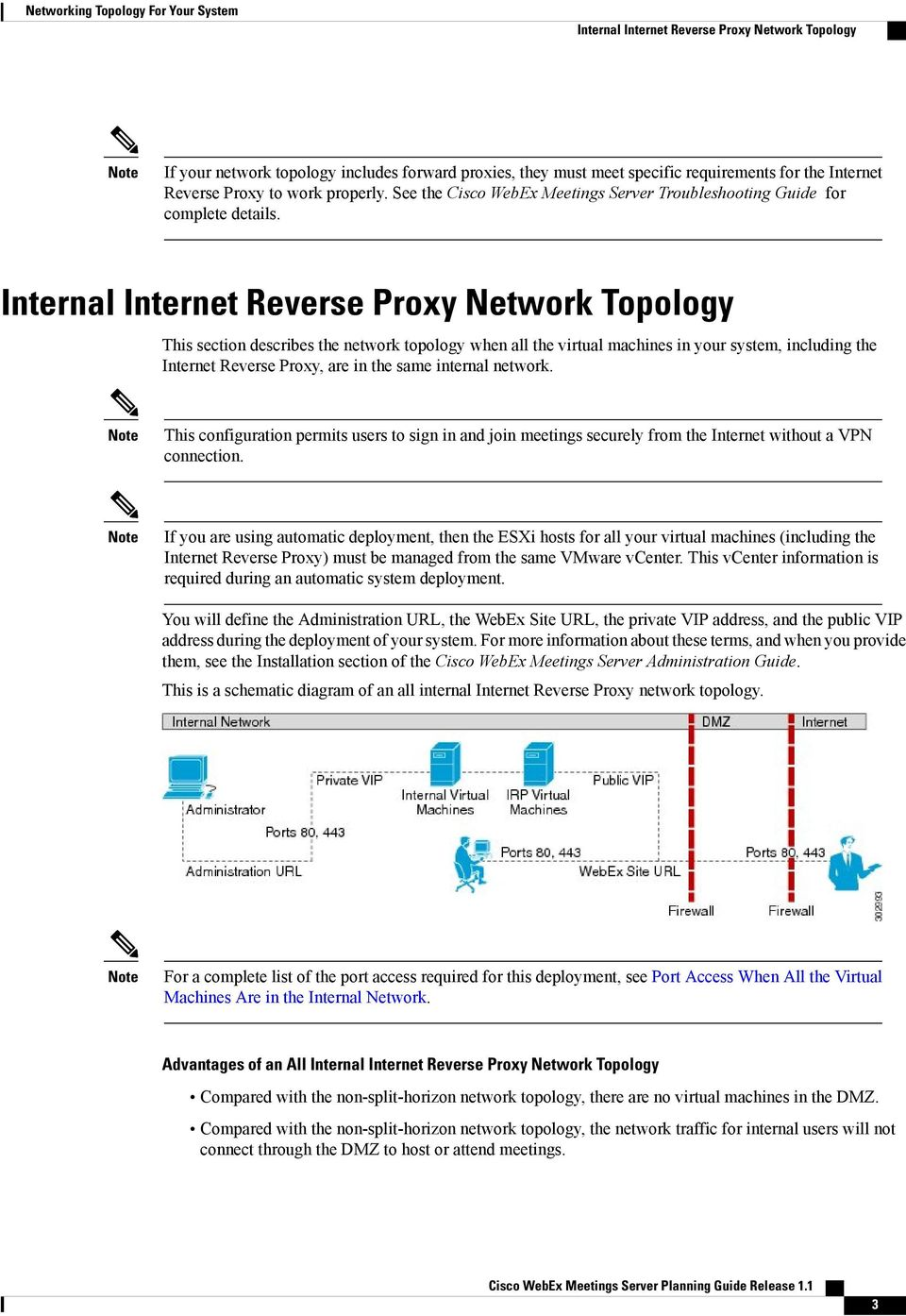 Internal Internet Reverse Proxy Network Topology This section describes the network topology when all the virtual machines in your system, including the Internet Reverse Proxy, are in the same