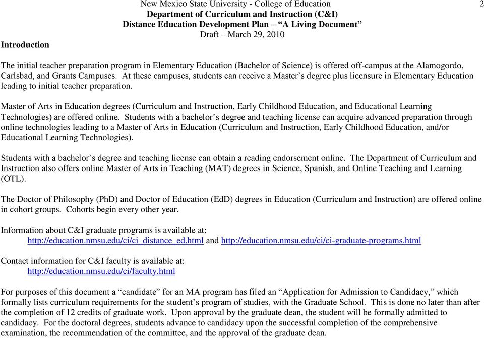 College Of Education Vision And Mission Pdf