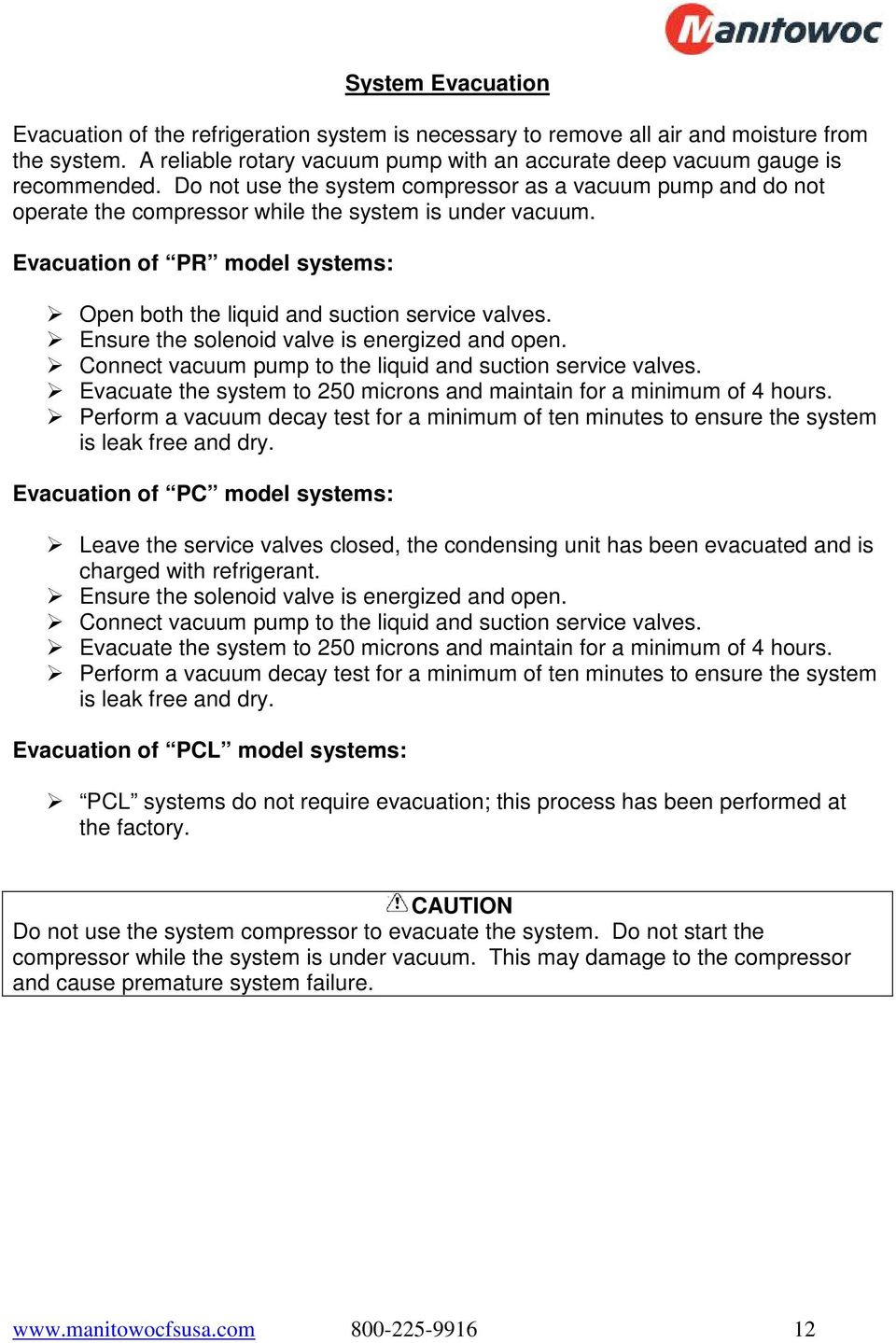 Refrigeration System Installation Operation Manual Pdf Condensing Unit And