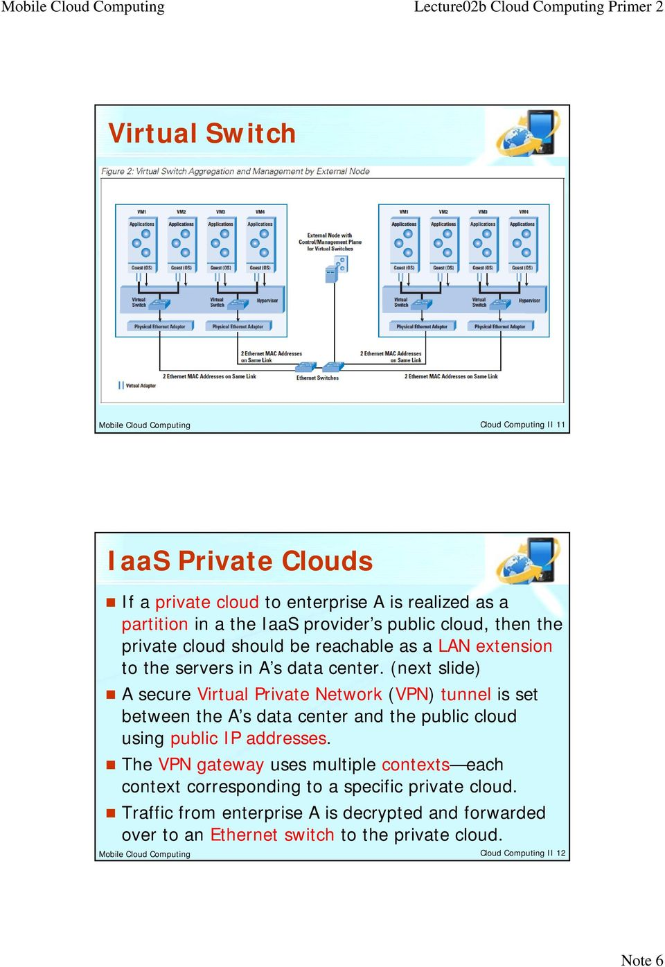 (next slide) A secure Virtual Private Network (VPN) tunnel is set between the A s data center and the public cloud using public IP addresses.
