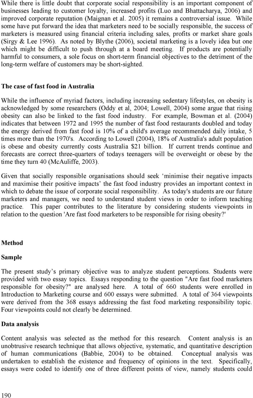 Student views on corporate social responsibility in an Australian ...