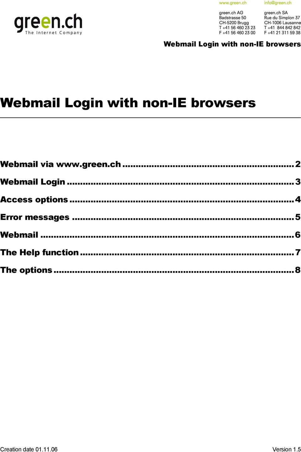 Webmail Login with non-ie browsers - PDF