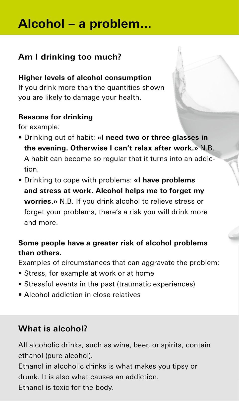 Alcohol addiction. How to cope with trouble