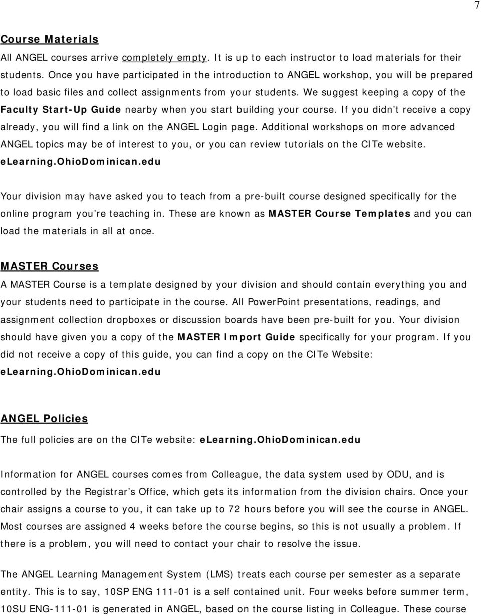 The ODU Guide to Teaching Online  Education Division MEd