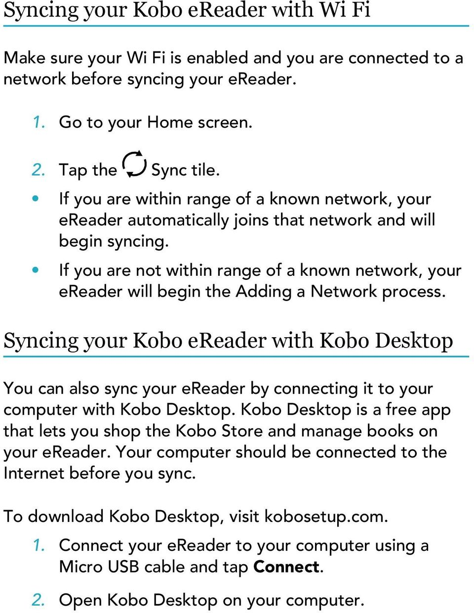 About your Kobo ereader PDF