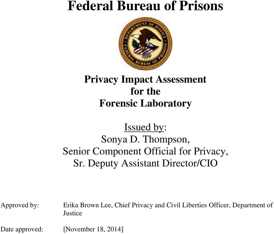 Thompson, Senior Component Official for Privacy, Sr.