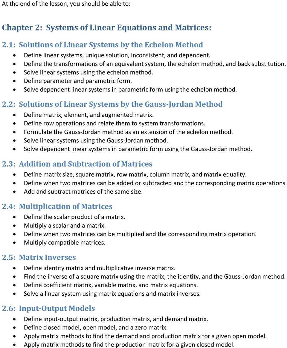chapter 2: systems of linear equations and matrices: - pdf