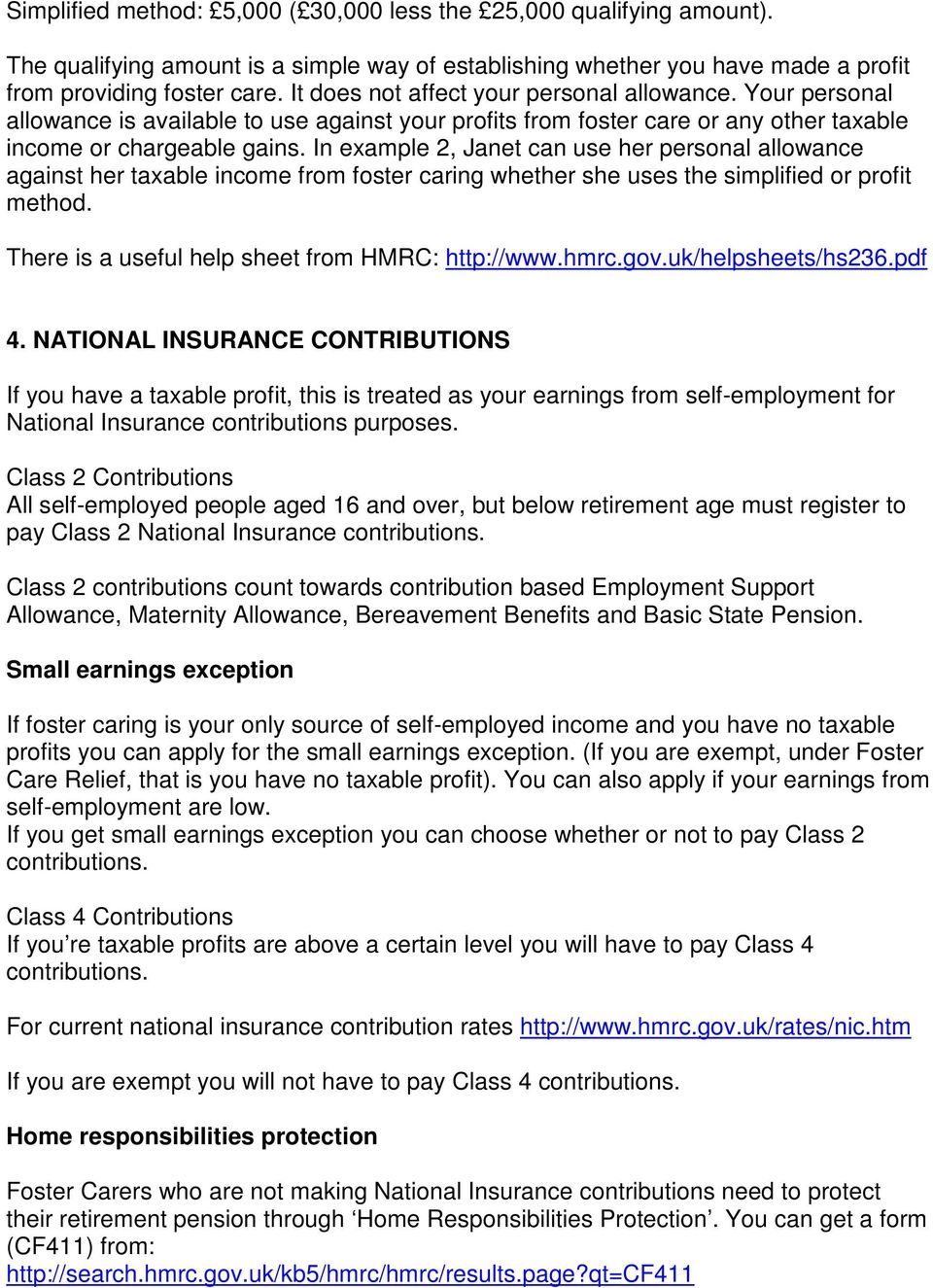 Class 4 national insurance contributions rates