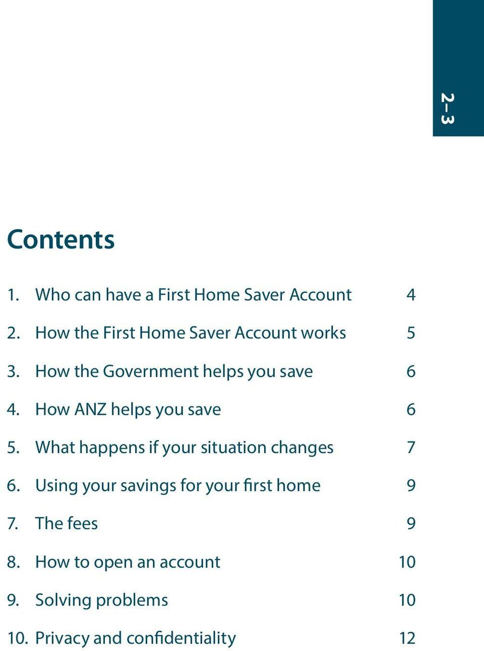 How ANZ helps you save 6 5. What happens if your situation changes 7 6.