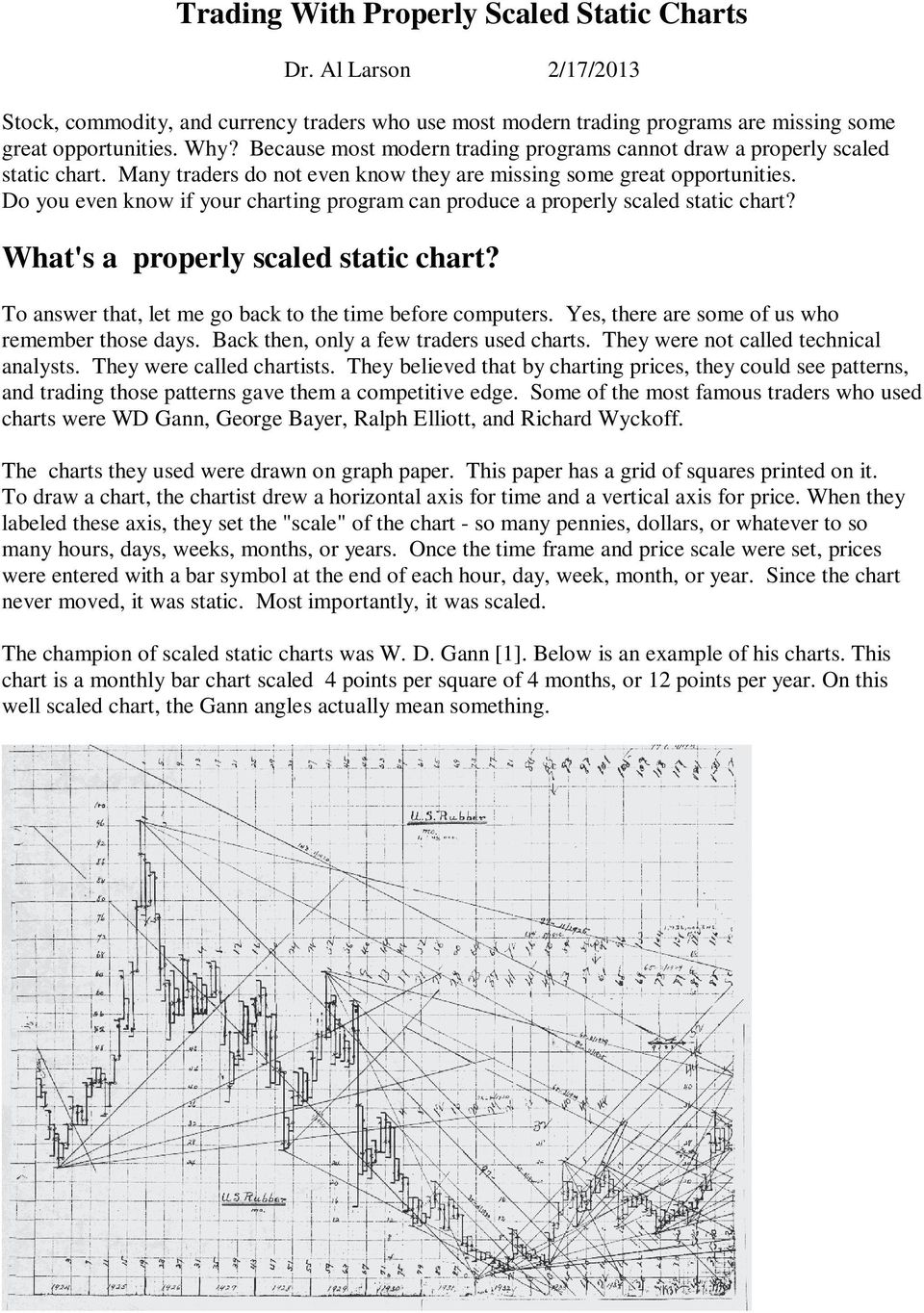 Trading With Properly Scaled Static Charts - PDF