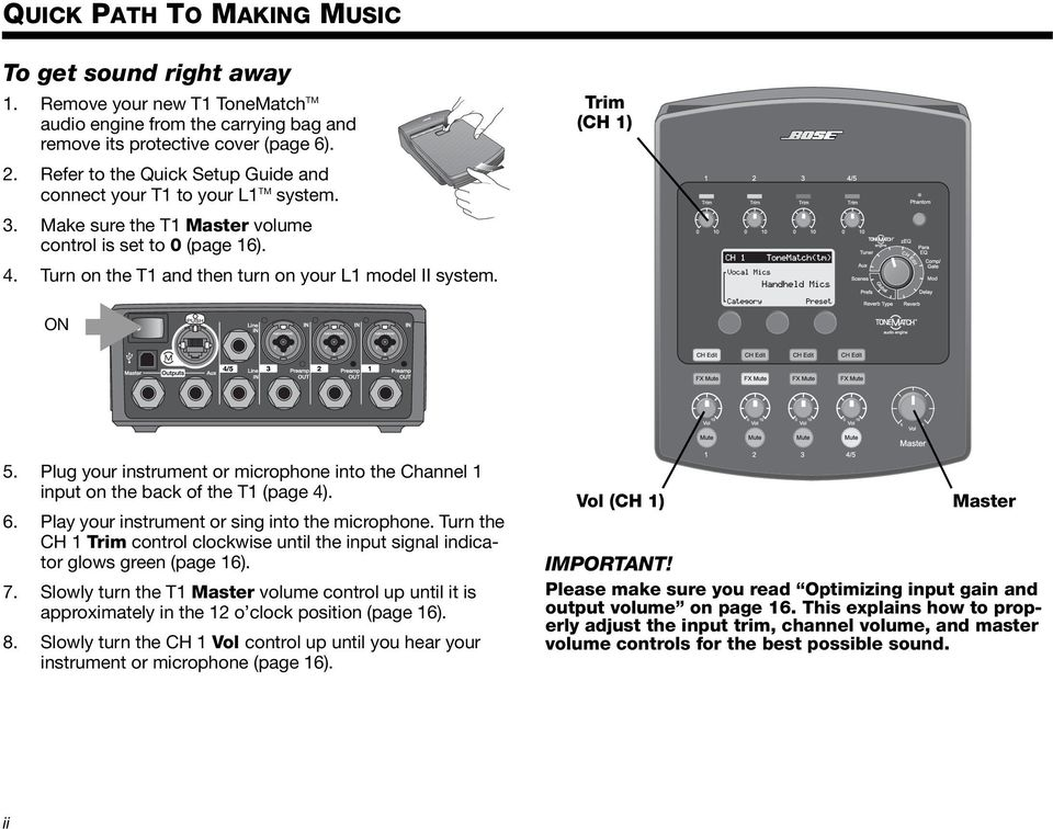 T1 ToneMatch TM AUDIO ENGINE  Owner s Guide - PDF