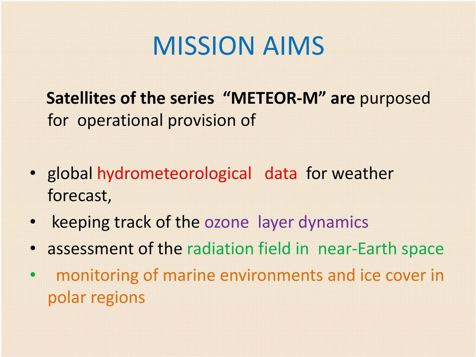 forecast, keeping track of the ozone layer dynamics assessment of the