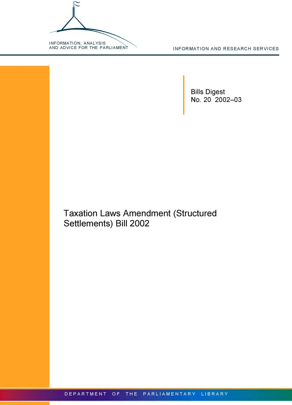 20 2002 03 Taxation Laws Amendment (Structured