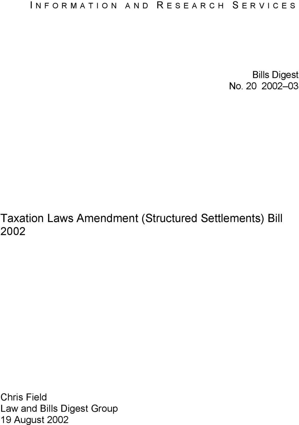 20 2002 03 Taxation Laws Amendment