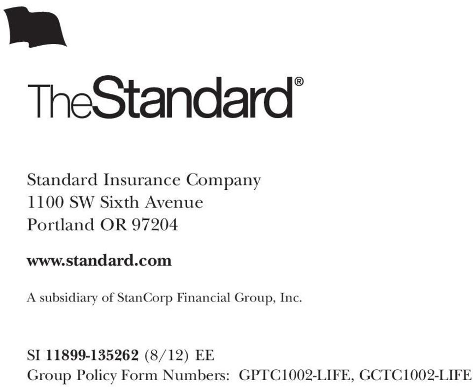 com A subsidiary of StanCorp Financial Group, Inc.