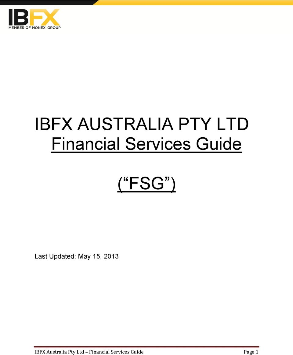 Updated: May 15, 2013 IBFX
