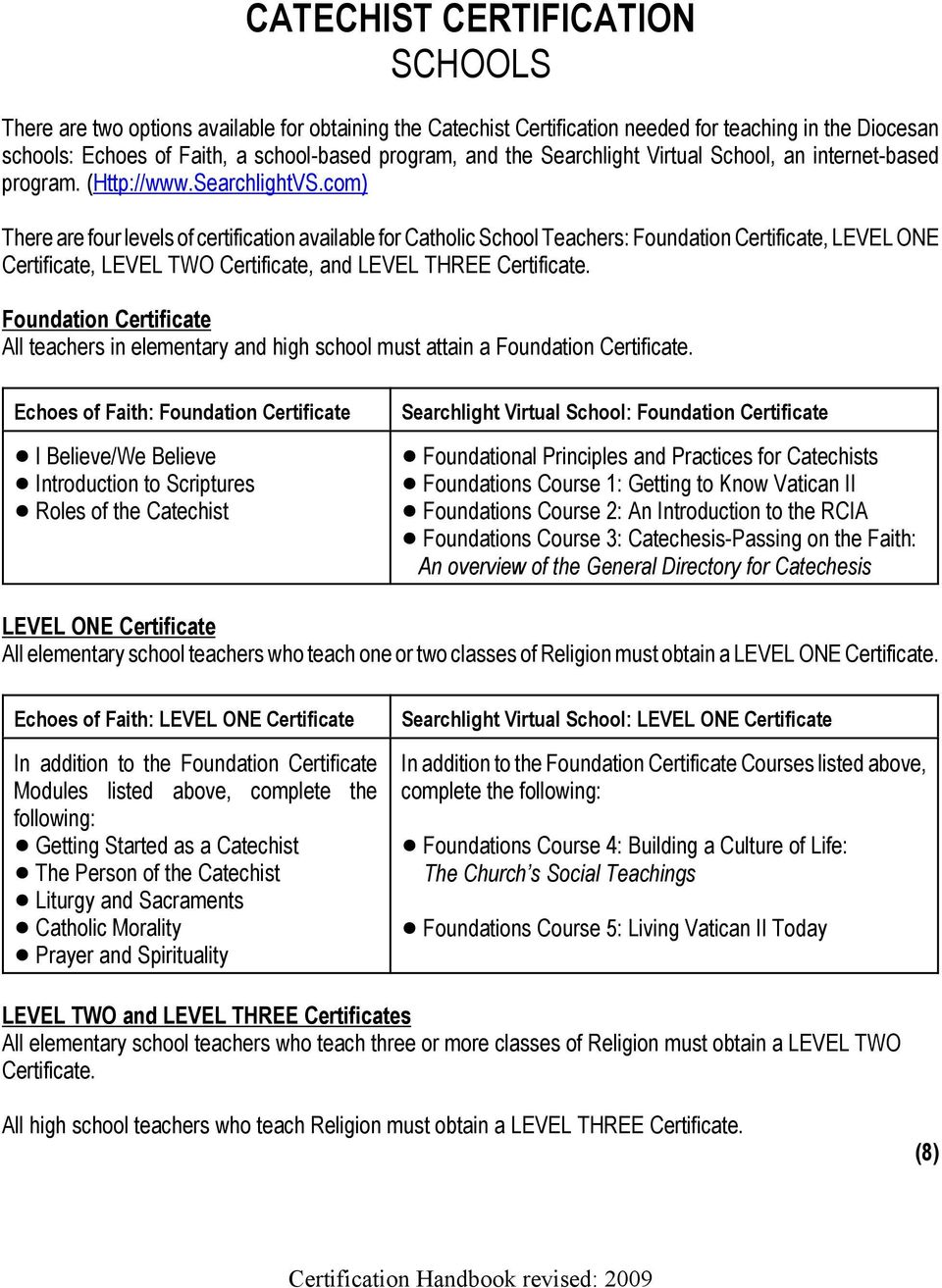 CERTIFICATE IN YOUTH MINISTRY STUDIES - PDF