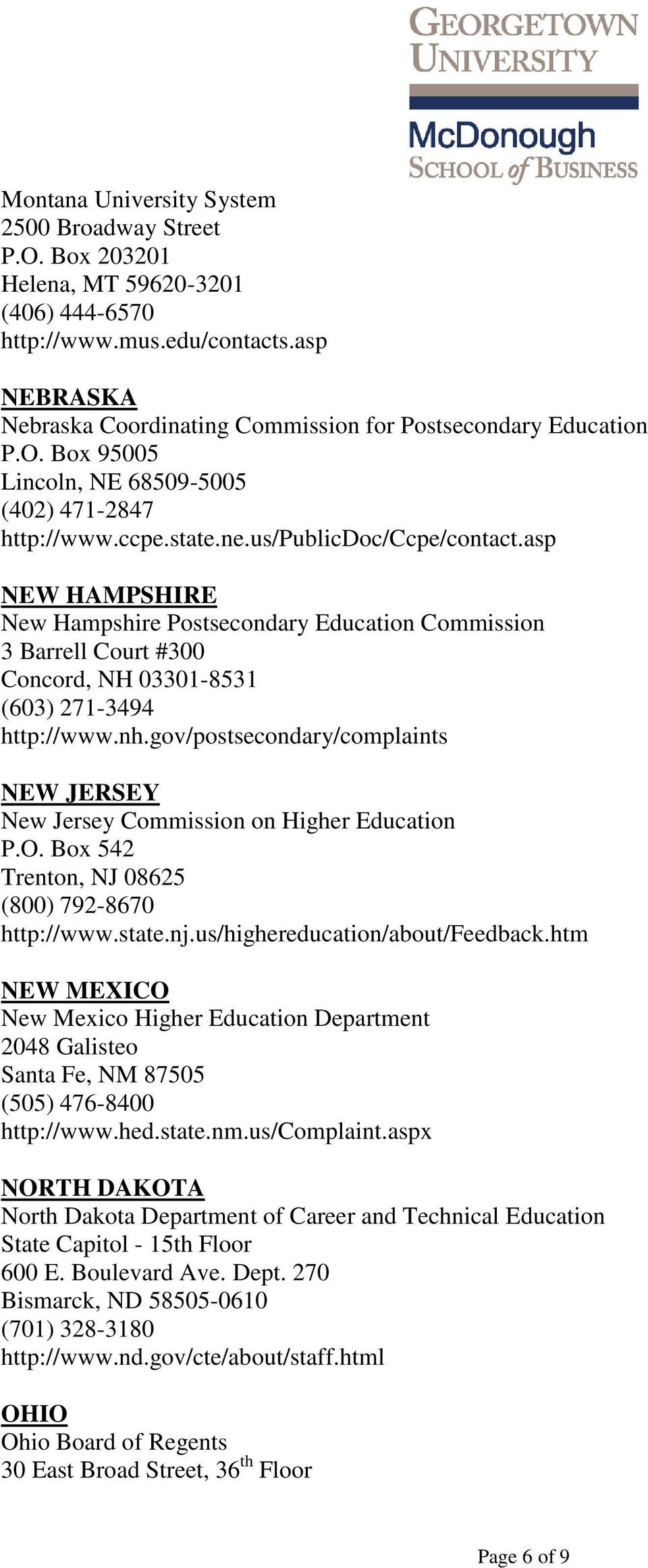 asp NEW HAMPSHIRE New Hampshire Postsecondary Education Commission 3 Barrell Court #300 Concord, NH 03301-8531 (603) 271-3494 http://www.nh.