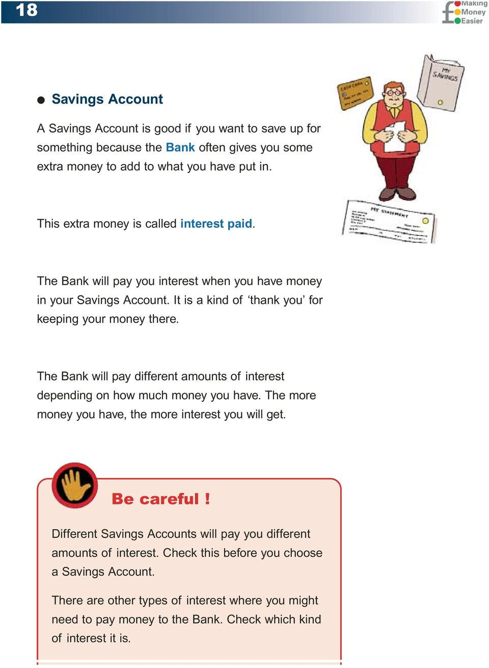 Choosing And Opening A Bank Account Pdf Choose Your Savings The Will Pay Different Amounts Of Interest Depending On How Much Money You Have