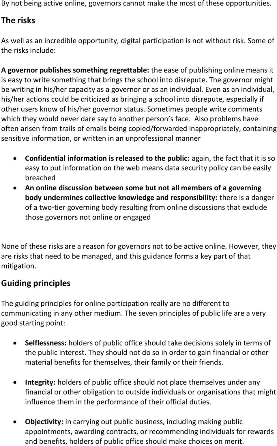 Online participation: Guidance for school governors - PDF