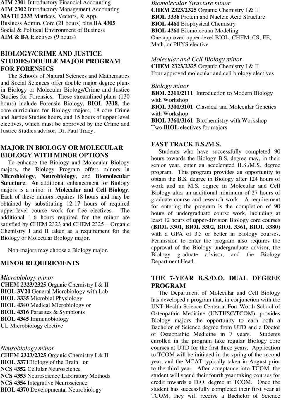 DEPARTMENT OF MOLECULAR AND CELL BIOLOGY - PDF