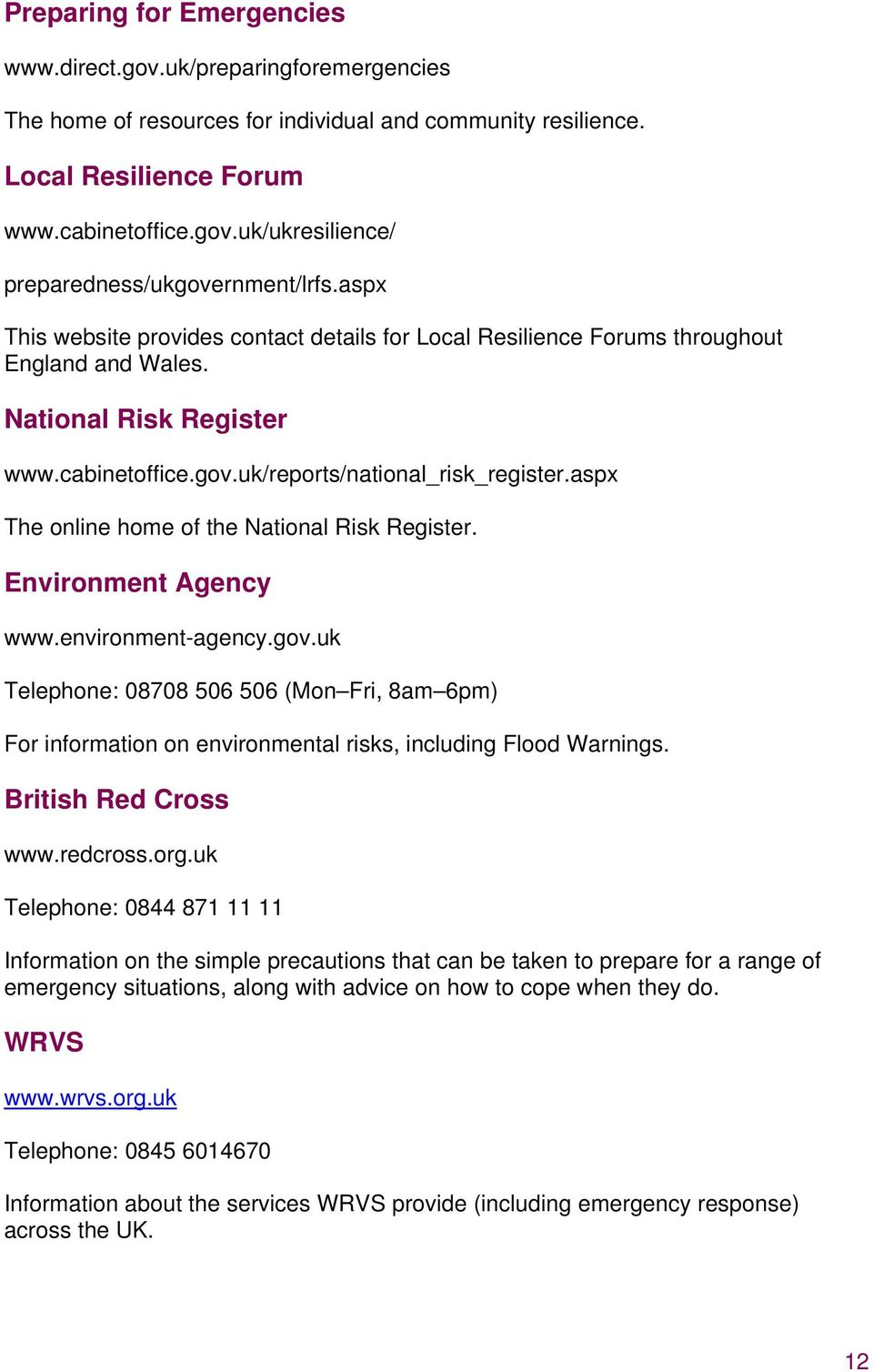aspx The online home of the National Risk Register. Environment Agency www.environment-agency.gov.