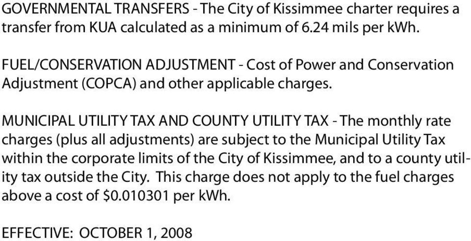 utility tax outside the City.