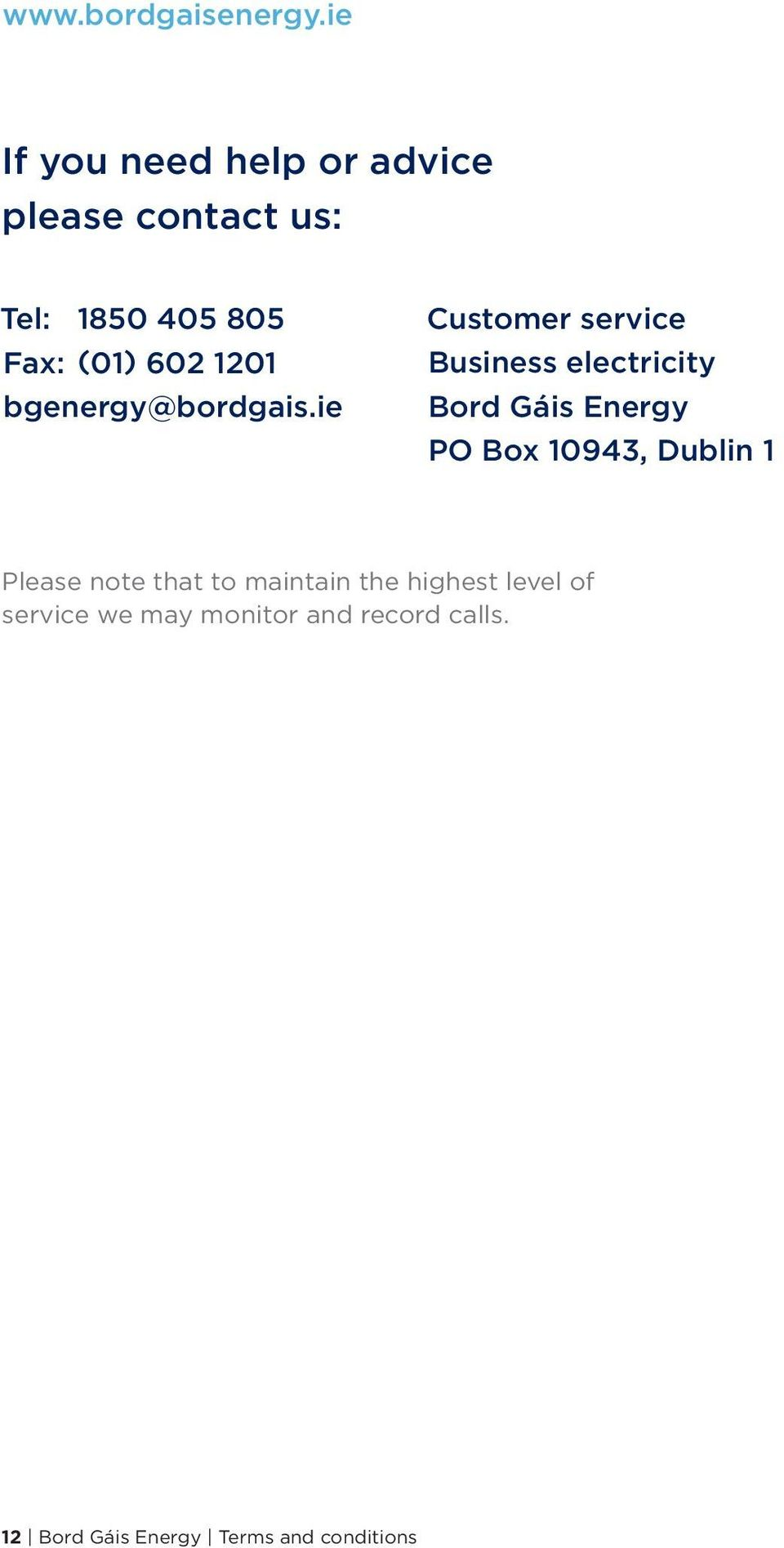 (01) 602 1201 bgenergy@bordgais.