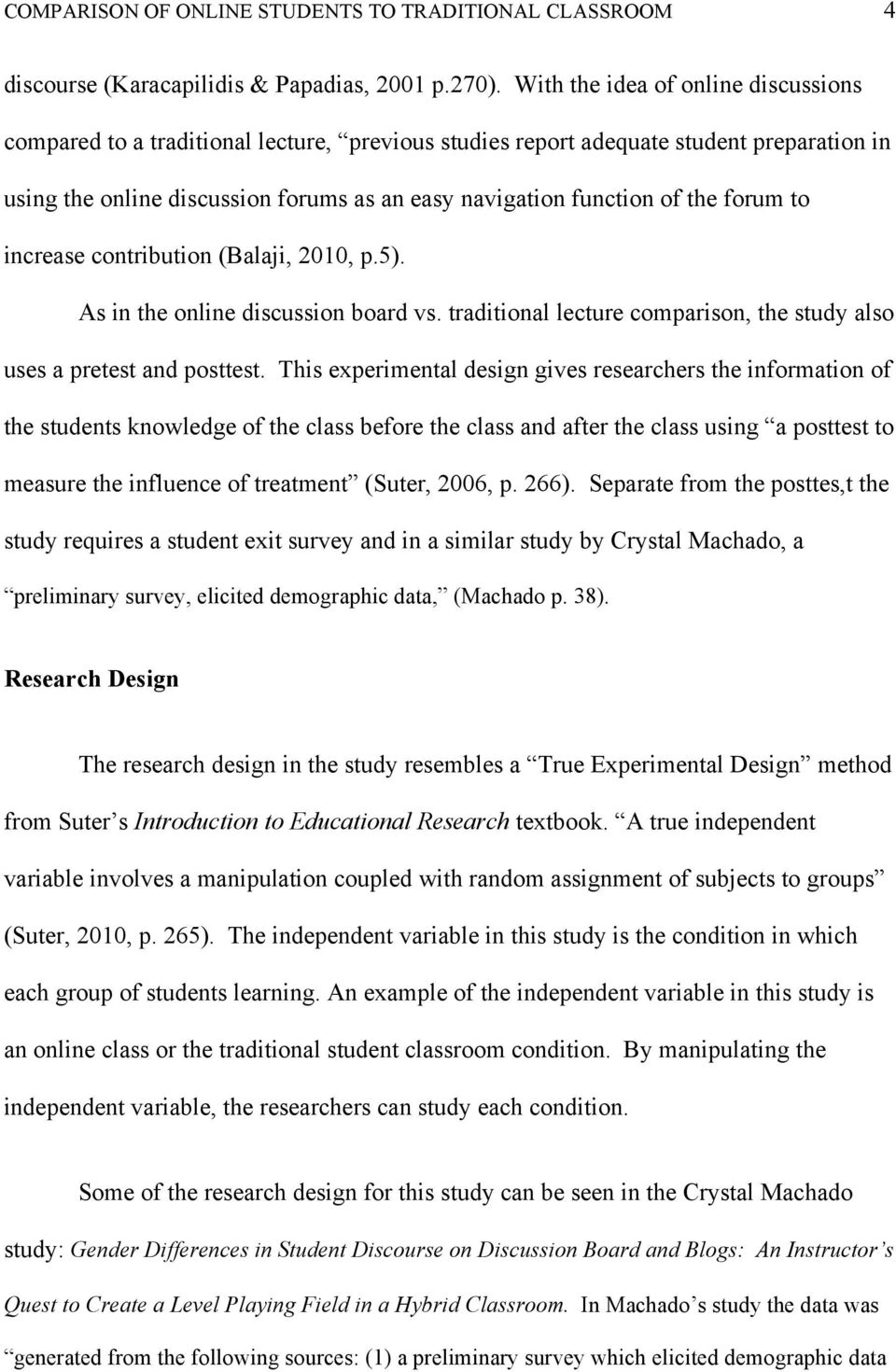Running Head: COMPARISON OF ONLINE STUDENTS TO TRADITIONAL 1  The