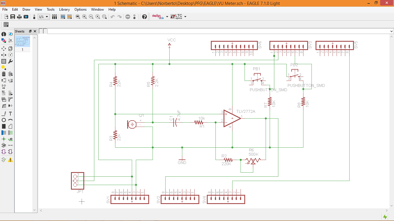 Programming Of A Led Matrix With Digital Vu Meter Application Pdf This Is Simple Circuit Diagram 5led Audio Using Ic Once We Have Crated The File For Our New Project Must Do Schematic Design