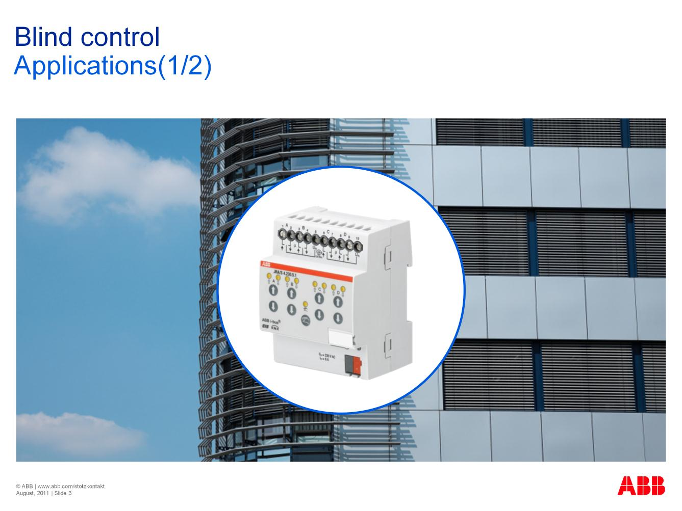 Welcome to the ABB STOTZ KONTAKT training program on ABB i-bus KNX ...