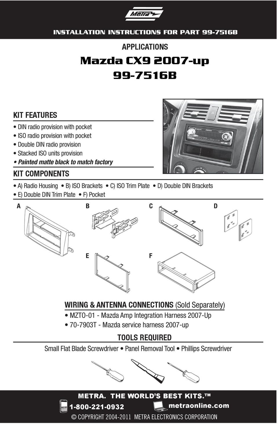 Mazda Cx Up B Pdf Wiring Harness 9 Trim Plate F Pocket A C D E Antenna Connections Sold Separately Mzto