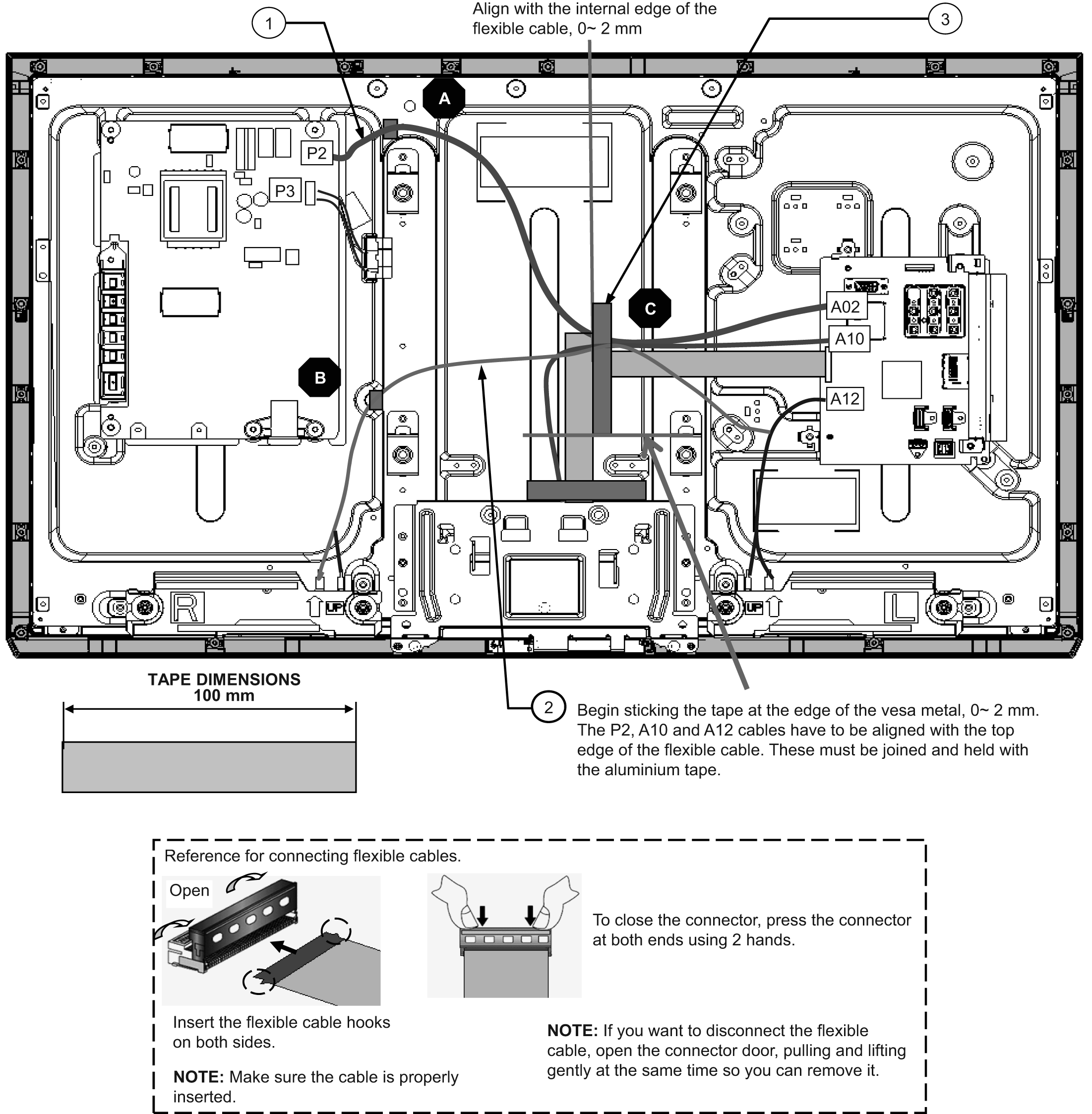 Table Of Contents Lcd Tv Model No Tc L32x5 Chassis Km15 Schematic Diagram Analog Multimeter Philips Diagrams 72 Cable Alignment Connect The That Comes On Panel To P3