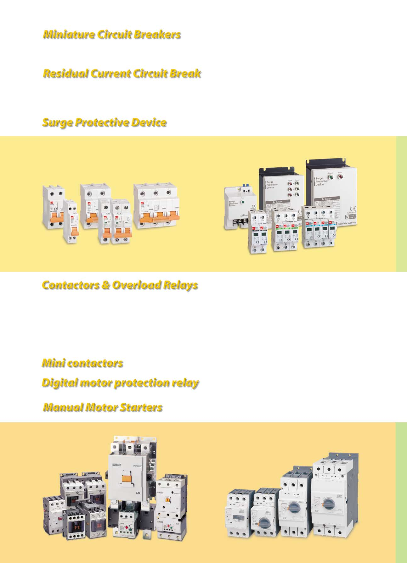 Lsis Electric Products Mcb Mctor Mms Mccb Acb Fdb Smdb Electrical Relay Wiring Diagram Also Mag Ic Contactor With Overload 1 2 3 And 4 Pole Series Up To 125f B C