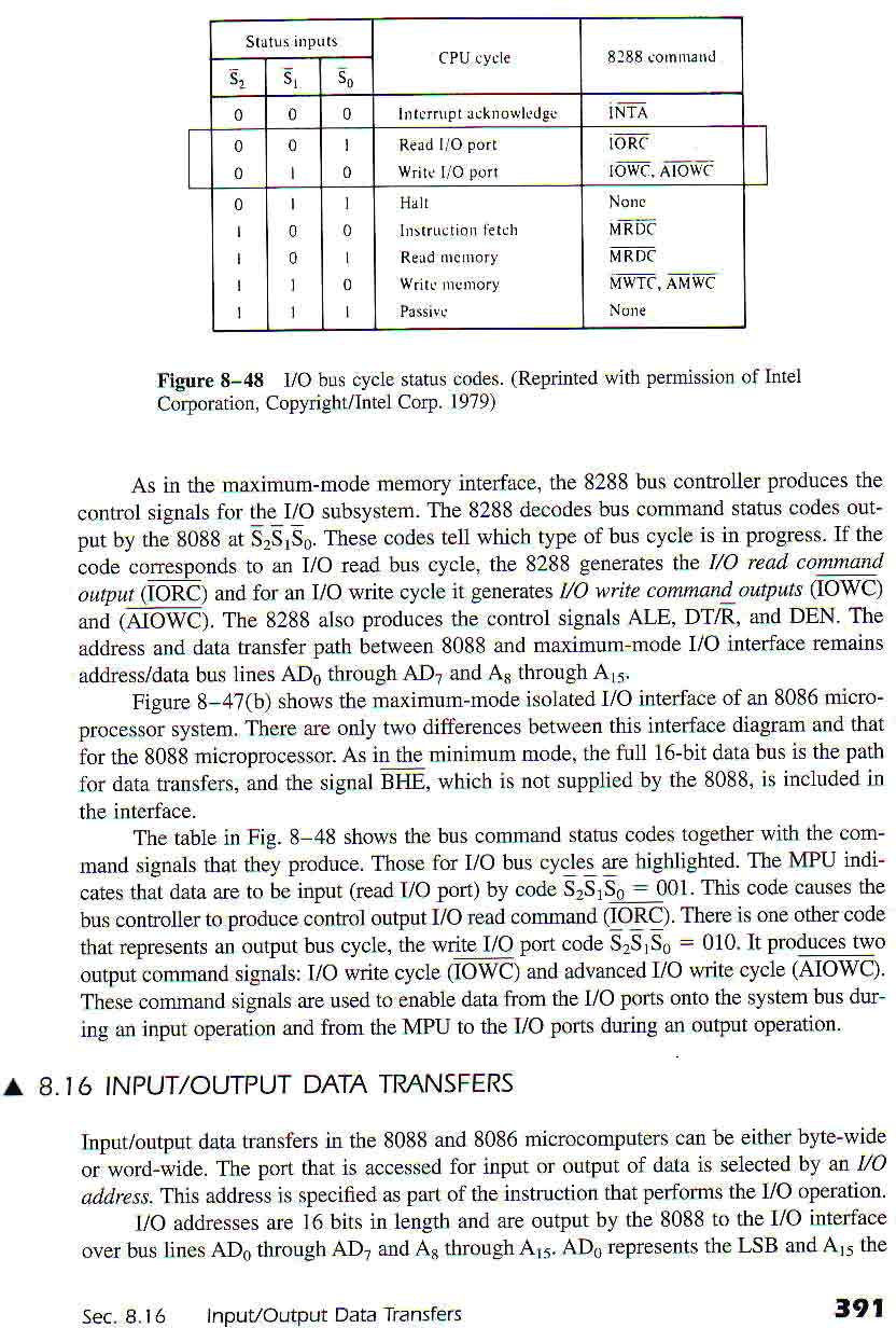Microprocessors And Their Memory Pdf Thermometer Circuits Gt Led Digital Schematic L8288 Next S 5 0 I Inla Rorvc A Idwa Ilist Mrdc