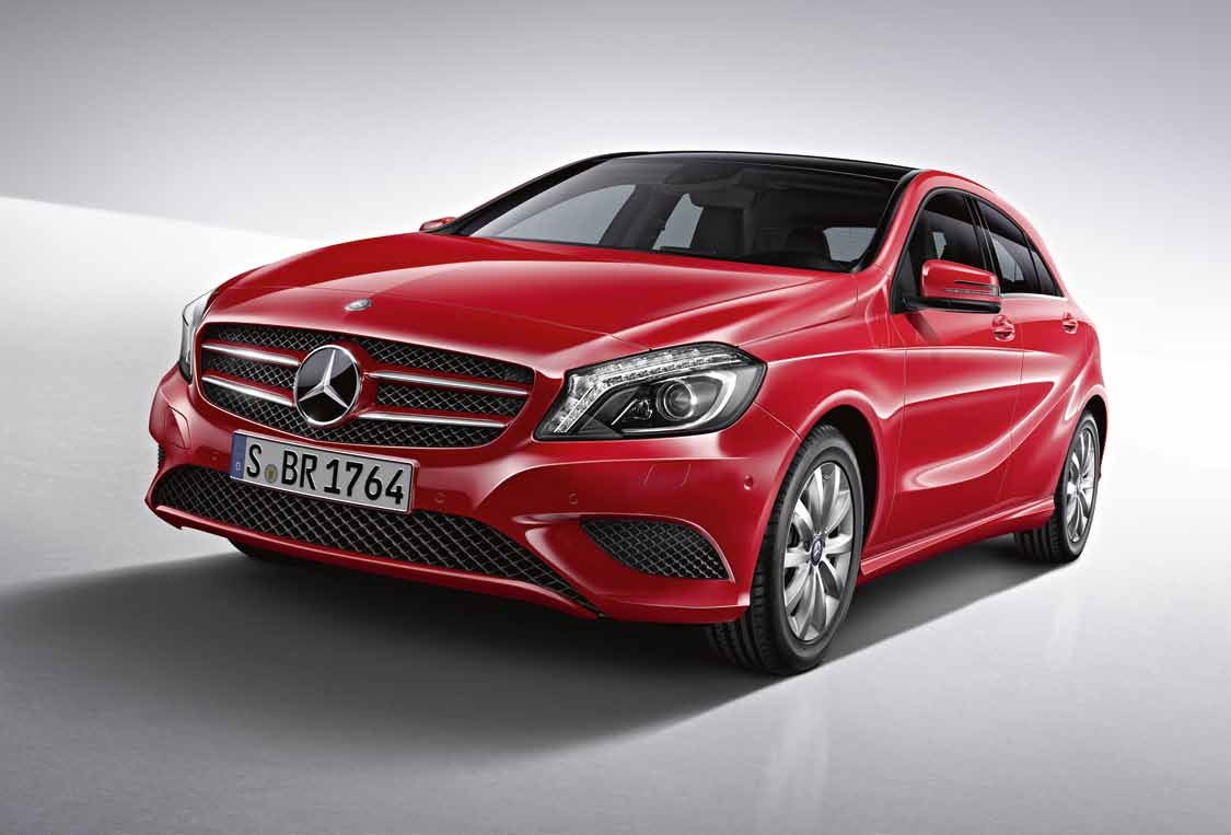 Class The A Pdf Mercedes Benz Command Harman Becker Car Stero Wiring Diagram Connector Style Design And Equipment Line Includes 10 Spoke Light Alloy Wheels With 205 55 R 16 Tyres Radiator Grille Two Louvres In Vehicle Colour