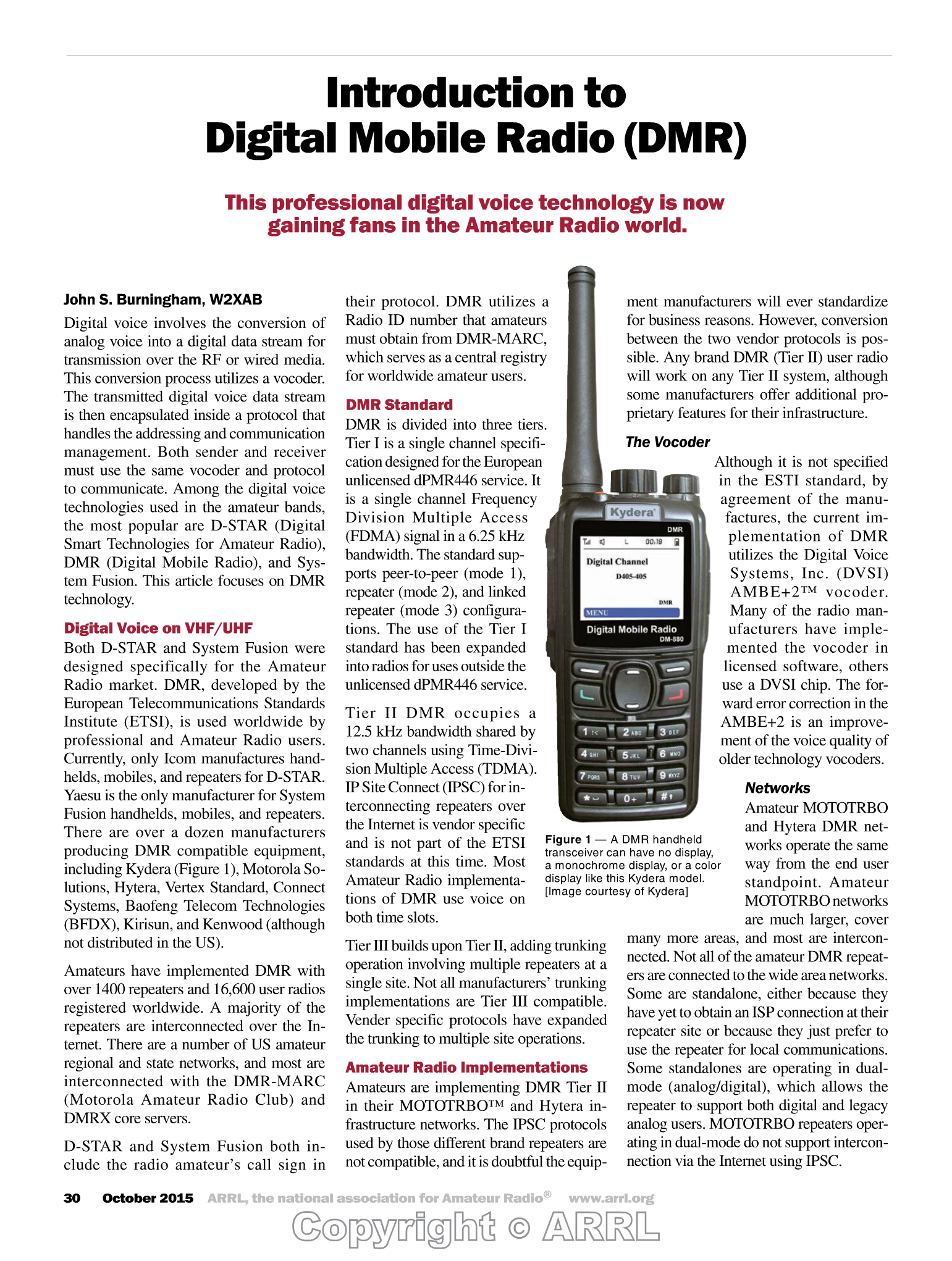 Introduction to Digital Mobile Radio {DMR) - PDF
