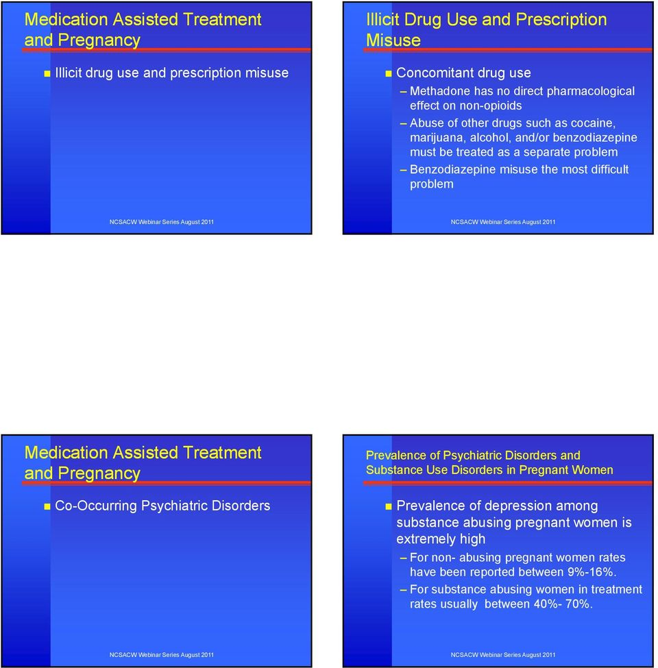 Medication Assisted Treatment and Pregnancy Co-Occurring Psychiatric Disorders Prevalence of Psychiatric Disorders and Substance Use Disorders in Pregnant Women Prevalence of depression